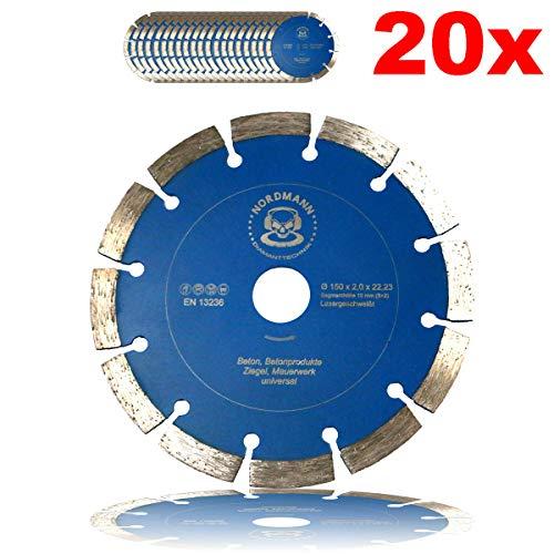 """Preisvergleich Produktbild 20x""""NORDMANN SF-150"""" Ø 150 mm - Diamanttrennscheiben für BAIER BDN Diamantfräse / Schlitzfräse"""
