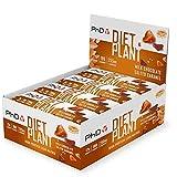 PHD Nutrition Diet Plant - Barrita proteína, alta en proteínas, con sabor a chocolate y caramelo salado, vegana, baja en carbohidratos y azúcares, 12 x 55g