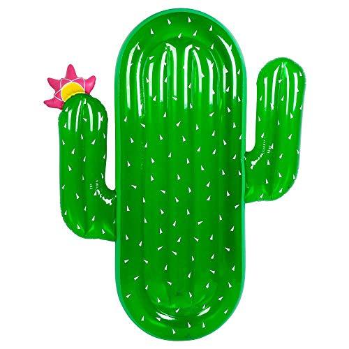 FEIDIAO Aufblasbare Kaktus 180*145cm Luftmatratze mit Schnellventile für Kinder Erwachsene Strand Pool Party Spielzeug Lounge Floß Dekorationen