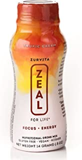 New Zurvita Zeal for Life Tropic Dream Wellness Single Serve - 24 Servings