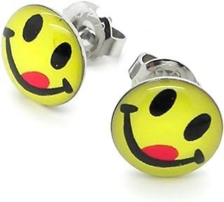 36 Paar Nette gelbe Smile Ohrringe Set Runde Emoticons Ohrstecker ZY