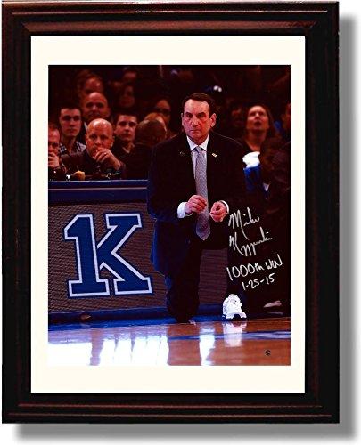 Framed Duke Coach K' 1,000th Win Framed Autograph Photo