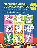 Mi Primer Libro Colorear Grande con Early Learning Flashcards Niños Juego 1-6 años Español bengalí: Mis primeras...