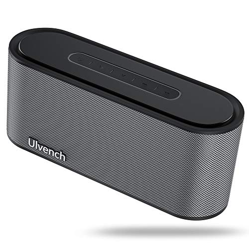 Portable Wireless Speaker, Ulvench Bluetooth V4.2 20W Stereo Speaker with Enhanced Bass and HiFi Sound Dual-Driver, 10 Hours Playtime with Built-in Mic AUX/SD Input for Home Party Car