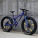 CHHD Bicicletas de montaña , Bicicleta de montaña rígida con neumáticos Gruesos de 26 Pulgadas , Marco de Doble suspensión y Horquilla de suspensión Bicicleta de montaña Todo Terreno Cy