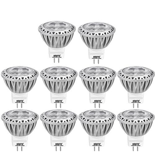 AGOTD GU4 MR11 12V Led Lampen 2700K Warmweiß, 35mm Durchmesser 1.38x1.49inch LED Spots, 250LM 3W Leuchtmittel ersetzt 20W 30W 35W Halogenlampen, Nicht Dimmbar, 10er Pack