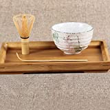 PopHMN 3 in 1 Kit di Strumenti Tradizionali Matcha, Strumenti per Cerimonia del tè, Ciotola da tè in Ceramica, Cucchiaio da tè in bambù, Frusta per Matcha in bambù, Strumento da tè per tè Giapponese
