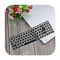 For Acer 熱望5 A515-54 A515-43 A515 52 57mu A515 52gスイフト3 15.6インチシリコーンキーボードカバーラップトッププロテクタースキンガード-Black-