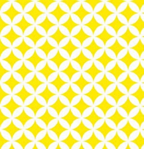 Klebefolie - Möbelfolie Elliott gelb Dekorfolie 45 cm x 200 cm Selbstklebefolie Selbstklebefolie Retro Motiv Bastelfolie