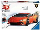 Ravensburger Puzzle 3D, Lamborghini Huracán EVO, 108 Piezas, Edad Recomendada 8+, Puzzle 3D Ravensburger
