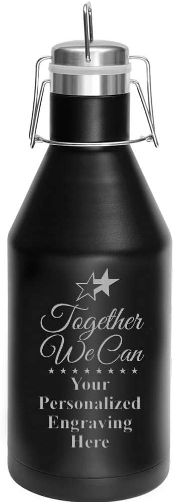 Custom Teamwork Growler 64 oz Together Stainless Can We Long Beach Cash special price Mall