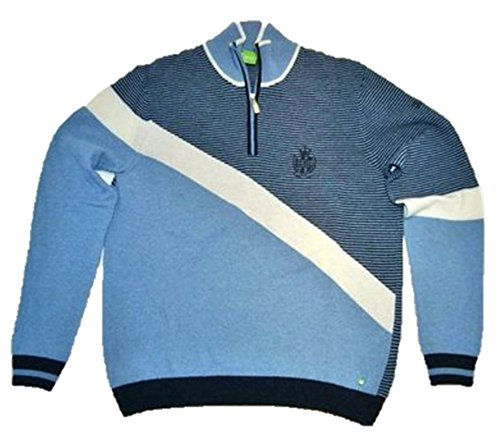 Boss Green Pull-over ZUPIN Bleu clair Motif 440 - Bleu - XL