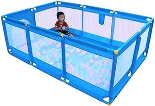 pliant 12 + 2 panneaux 155 /× 155 /× 65CM bleu Parc pour enfants Kids Activity Center Safety Play Yard Home Indoor Outdoor New Pen