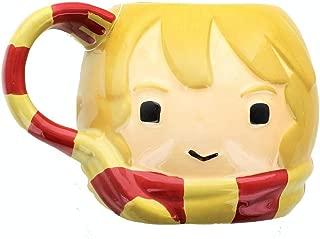 Harry Potter Hermoine Figural Ceramic Coffee Mug - Cute Chibi Design with Gryffindor Scarf Handle - 24 oz