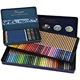 Cezanne Color and Graphite Pencil Set - Professional Artist Quality Drawing and Coloring Pencils Break Resistant Leads with Triple Coated Barrels