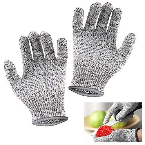 Schnitzhandschuh Kinder Handschuhe – Leistungsfähiger Level 5 Schutz lebensmittelecht.Arbeitshandschuhe Kinder,Größe: XS 1 Paar Geeignet für 8-12 Jährige