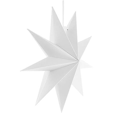Decor Service Etoile en Papier /à LED Blanc /Ø 45 cm