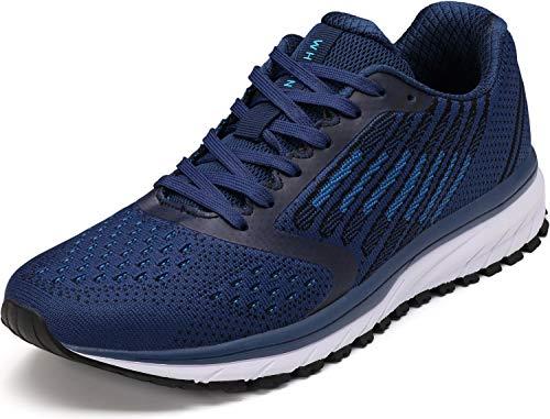WHITIN Unisex Laufschuhe Herren Damen Hallenschuhe Turnschuhe Sneakers Männer Sportschuhe Straßenlaufschuhe Atmungsaktiv Joggingschuhe Fitness Schuhe Blau Größe 43