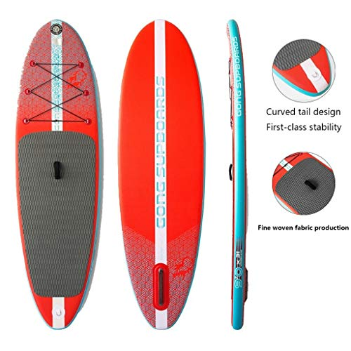 Wassersport Surfbrett Kinder-Sup-Paddle-Board Aufblasbares Paddle-Board Gebogenes Heck-Design Erstklassige Stabilität Entspanntere Freizeit Und Unterhaltung (Color : Red, Size : 274 * 78cm)