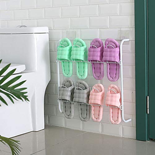 shoe rack Zapatero De Hierro_Estante De Zapatos De Pared Pegado Mini Organizador De Almacenamiento De Zapatillas,Dormitorio 4 Pares De Zapatas De Metal