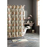 Croscill Mosaic Leaves Shower Curtain, 70-Inch by...