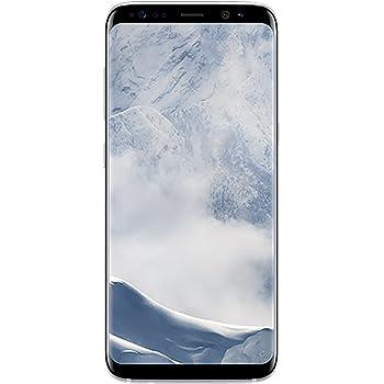 Samsung Galaxy S8, 64GB, Arctic Silver - Fully Unlocked (Renewed)