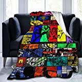 Yoovo Anime Blanket Flannel Super Soft Micro Fleece Blanket 3D Print Cowboy Be-bop Warm Throw Blanket for Couch, Sofa, Bed Four Seasons Blanket 50'X40'