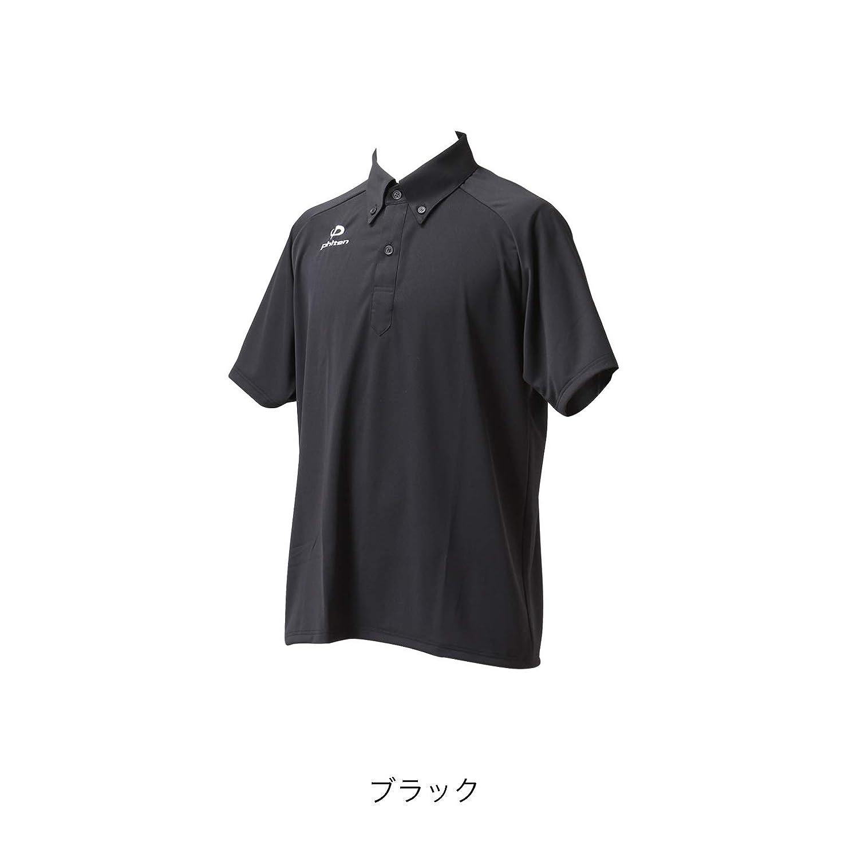 酔ってガイド価格ファイテン(phiten) ポロシャツ (OZ) ボタンダウン2 (半袖タイプ)ブラック LLサイズ