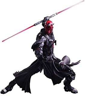 FULONG Star Wars Variant Play Arts Kai Darth Maul PVC Painted Action Figure - Alien War Action Characters - Equipped with Weapons and Replaceable Hands - High 25CM