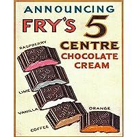 フライ5センターチョコレートクリームブリキサインヴィンテージ面白い生き物鉄の絵メタルプレートパーソナリティノベルティ