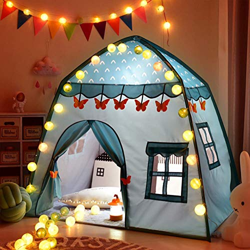 LLSS Kids Princess Castle Play House, Large Kids Playhouse Girls Quadrilateral Play Tent Toy, Great Gift for Girls Boys
