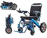 H-BEI Sillón de Ruedas eléctrico portátil Ligero Plegable Inteligente Compacto automático Scooter Ancianos discapacitados Coche de Ayuda Solo 23 kg