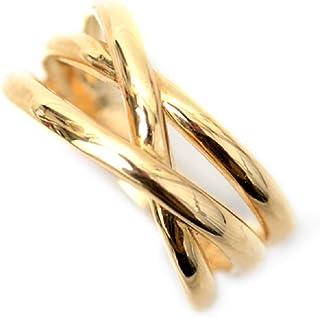 18金 リング K18 指輪 イエローゴールド 3連リング調 3本ウエーブ ライン デザイン リング (10)
