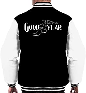 Goodyear Svartvit logotyp mäns universitetsjacka