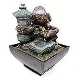 Decoración de acuarios Desktop Water Fountain Bomba sumergible Decoración de interiores -Tabletop portátil Kit de cascada decorativa -relajación relajante,meditación Zen Oficina ambiental Adornos crea