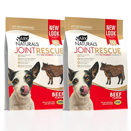 ARK NATURALS Sea Mobility Beef Joint Rescue Dog Chews, Increase Flexibility, Mobility and Joint Comfort, 500mg Glucosamine, 2 Pack