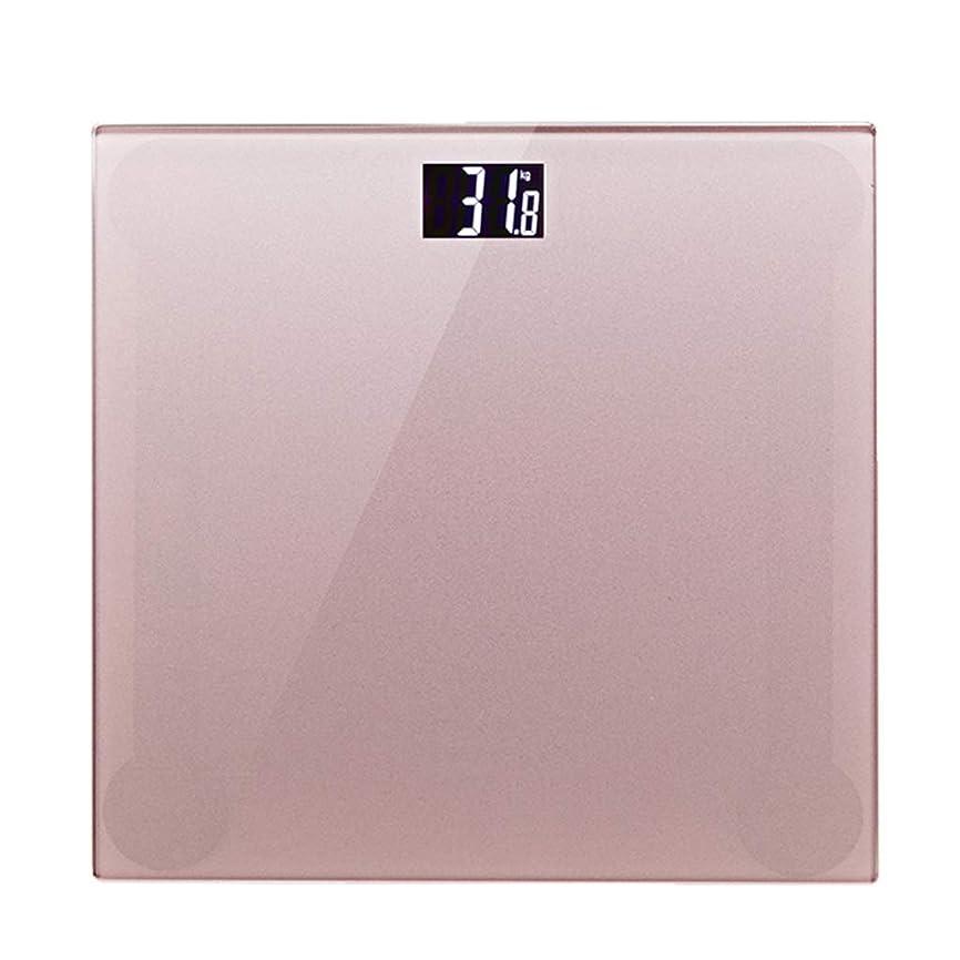 キルト無線見通し体重計 デジタルバスルームスケール高精度電子計量スケール安全ワイドテンパーガラスプラットフォーム耐ストレス180kg容量ピンク