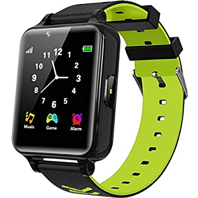 WILLOWWIND Kids Smart Watch for Boys Girls - Children's Smartwatch with 14 Games Music Mp3 Player 2 Way Phone Calls Alarms Calculator for Students 4-12 Years Old Birthday Gift (Green) by WILLOWWIND