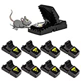 Acmind para Ratones(Juego de 6), ratonera de plástico para Interiores y Exteriores, Trampa para Ratas efectiva
