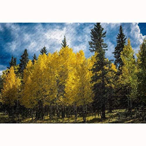 500/1000/1500/2000/3000 Piezas Puzzles de árboles de álamo, Juguetes educativos para Adultos y niños, Decoraciones para el hogar, Regalos creativos. 0308