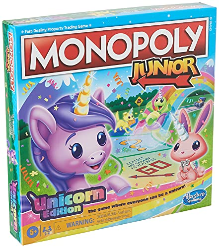 Monopoly Junior: Unicorn Edition Board Game, Magical-Themed