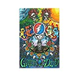 GSNG Grateful Dead Poster Canvas Art Poster and Wall Art Picture Print Modern Family Bedroom Decor Posters 24×36inch(60×90cm)