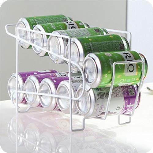 AAC estante de almacenamiento para latas, estante apilable para latas de cerveza, dispensador de bebidas y latas de almacenamiento, organizador para cocina, frigorífico, frigorífico