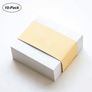 Karteczki samoprzylepne, 9 cm x 9 cm super przylepne karteczki, biała kostka papieru do biura domowego szkoły notatki 10 s...