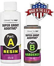 SGA 6 - Super Grout Additive Premium Waterproof Tile Grout Repair and Adhesive (Grout Sold Separately) - Kit Includes Applicator - Gloves - Mixing Cups & Sticks - Makes 18 oz Epoxy Grout - Made in USA