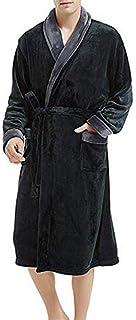 d9b32c16af553 ZYUEER Peignoir Homme Peignoirs de Bain Robe de Chambre Extra Doux Parfait  pour Spa Pas Cher