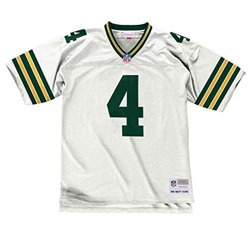 Mitchell & Ness Brett Favre Green Bay Packers Replica Throwback NFL Trikot Weiß M