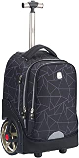 Student Trolley Bag, Big Wheel, 6-12 Years Old, Children's Large-Capacity Travel Bag (Color : Gray)