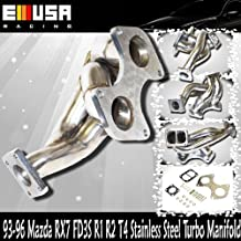 93-96 Mazda RX7 FD3S R1 R2 Turbo Manifold Stainless Steel T4 Flange