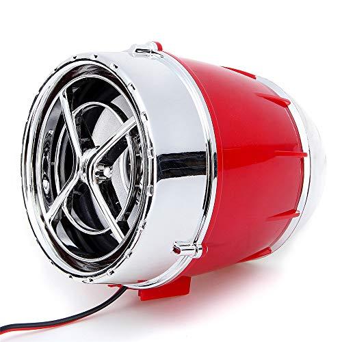 C-Funn Paar 12 V motorfiets MP3-speler luidspreker app besturing alarm radio FM met Bluetooth-functie rosso